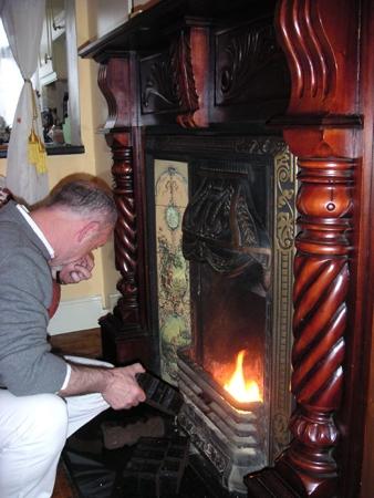 バロン家の暖炉